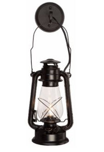 Rustic Lantern Large Black Wall Sconce Model MUS104
