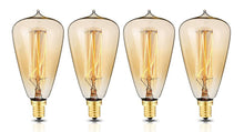 Load image into Gallery viewer, Edison Style Light Bulbs with E12 base ST48 glass shape (4 Pack)