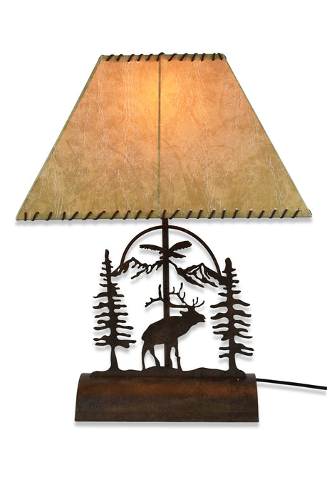 Elk Table Lamp-Rustic Patina