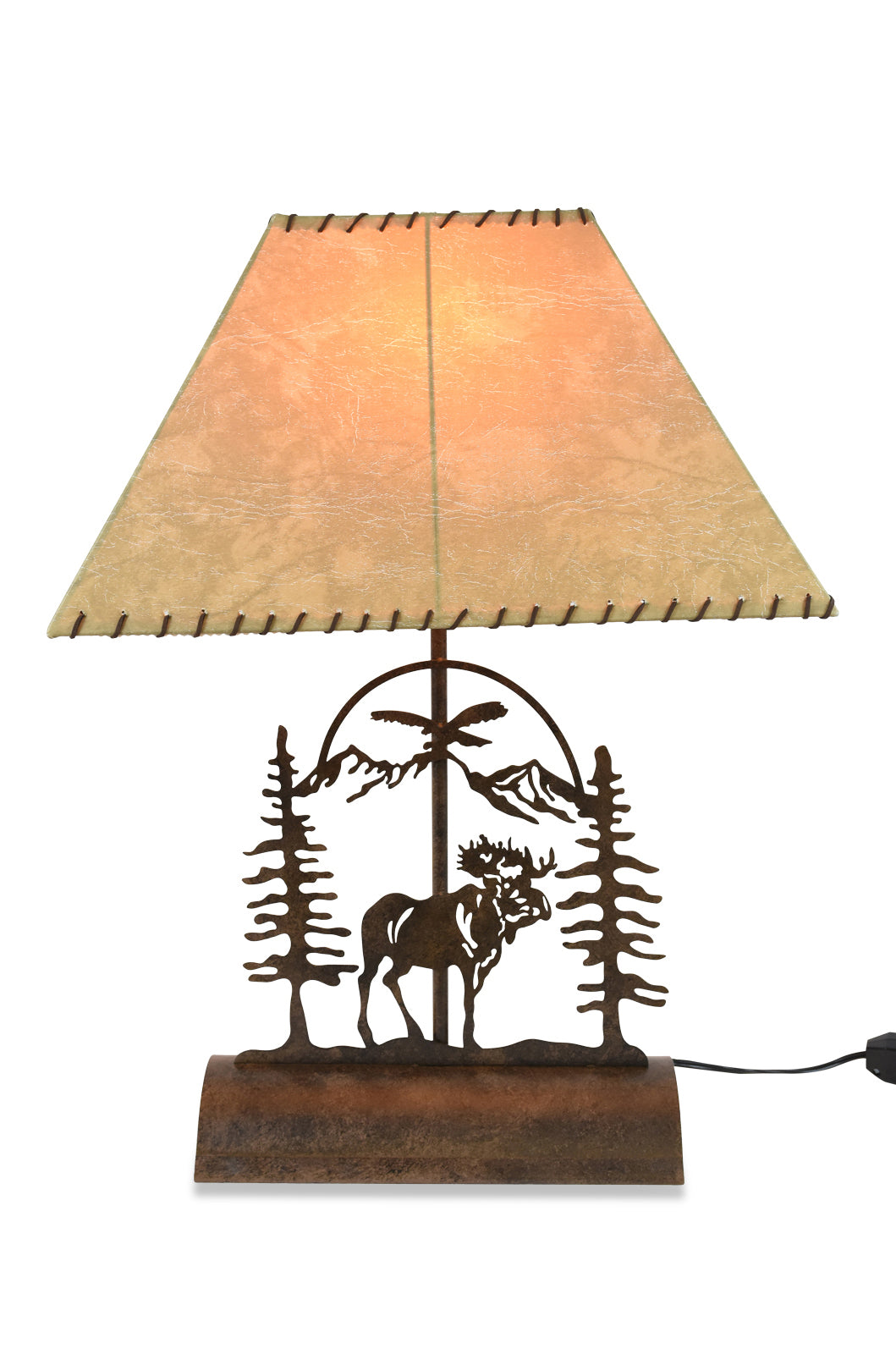 Moose Table Lamp-Rustic Patina