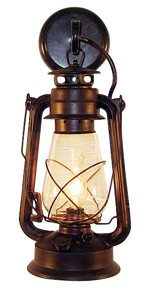 Rustic Lantern Large Wall Sconce patina rust finish Model MUS103