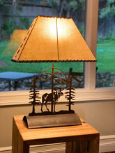 Load image into Gallery viewer, Moose Table Lamp-Rustic Patina
