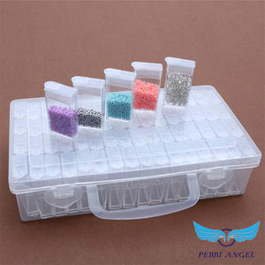 64 Grids Transparent Accessory Container