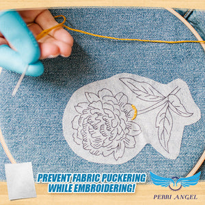 Wash-Away Soluble Embroidery Stabilizer