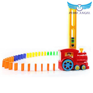 Automatic Dominoes Laying Toy Train