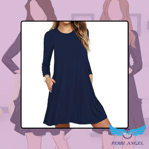 Sweatshirt Pockets Travel Dress