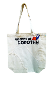 Friends of Dorothy Gusseted Muslin Tote