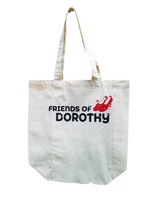 Load image into Gallery viewer, Friends of Dorothy Gusseted Muslin Tote