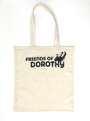 Open image in slideshow, Friends of Dorothy Flat Muslin Tote