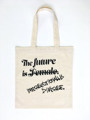 Open image in slideshow, Future Is Intersectionally Diverse Flat Muslin Tote