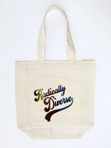Radically Diverse Gusseted Muslin Tote