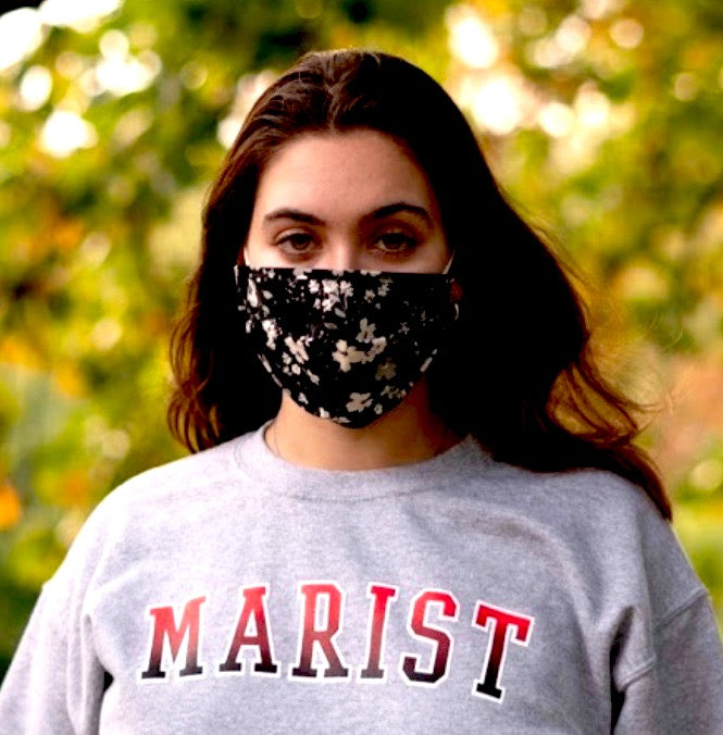Marist Red Ombre Crewneck