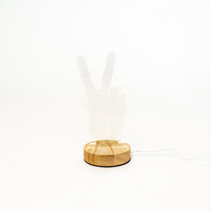3D Illusion Light - Peace Hand