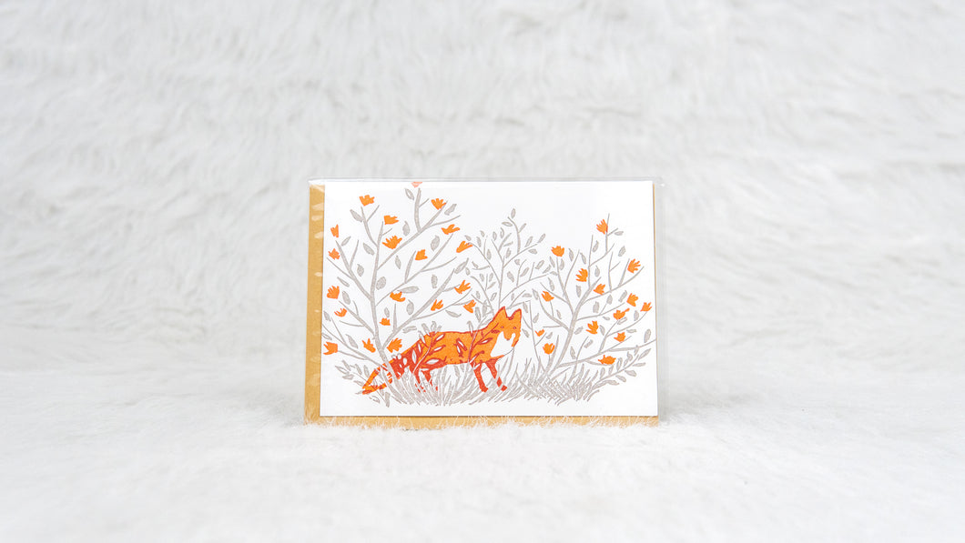 Fox Notecard