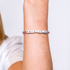 This is Me Bracelet - White Letters