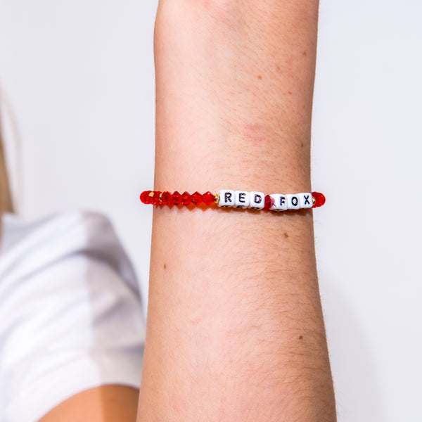 Red Fox Bracelet - White Letters