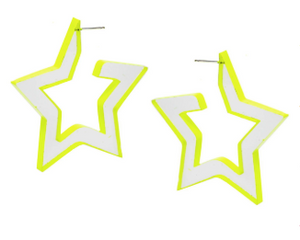 Open image in slideshow, Star Acrylic Earring