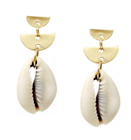 Half Moon and Shell Earring