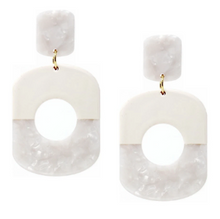 Load image into Gallery viewer, Geometric Color Block Drop Earring