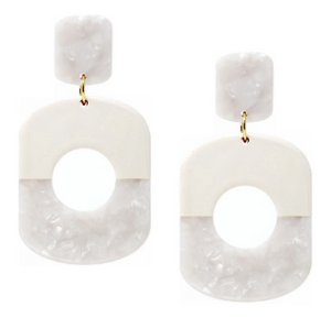 Geometric Color Block Drop Earring