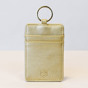 image of Gold ID Keychain front