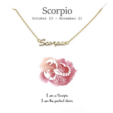Load image into Gallery viewer, Simple Zodiac Necklace