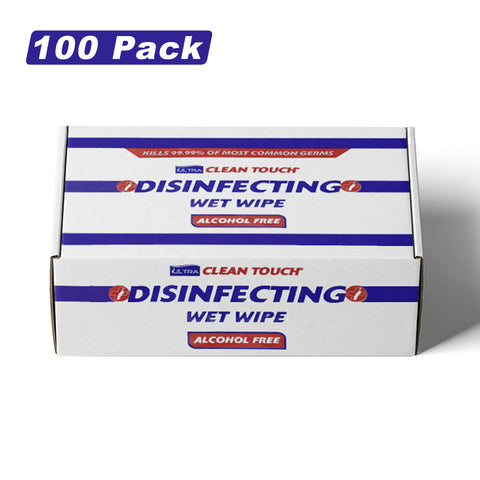 100 Ultra Clean Touch Antibacterial SINGLE WIPES Hand Surface Sanitiser Cleaner