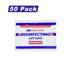 50 Ultra Clean Touch Antibacterial SINGLE WIPES Hand Surface Sanitiser Cleaner