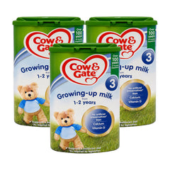 3x Cow & Gate 3 Growing Up Milk Formula 1-2 Years 800g