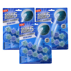 Max Flush 5 Ocean Spray Toilet Rim Block Cleaner (Twin Pack)