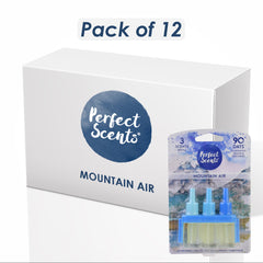 12x Perfect Scents Mountain Air Air Freshener Refill - Compatible with 3volution