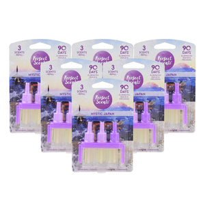 6x Perfect Scents Mystic Japan Refill Air Freshener - Compatible with 3volution
