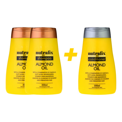 Nutrafix Almond Oil 2x Shampoo & 1 Conditioner