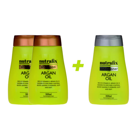 Nutrafix Argan Oil 2x Shampoo & 1 Conditioner