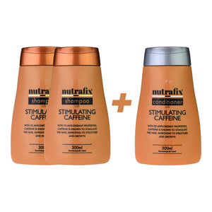 Nutrafix Stimulating Caffeine 2x Shampoo & 1 Conditioner (300ml)