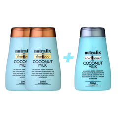 Nutrafix Coconut Milk 2x Shampoo & 1 Conditioner (300ml)
