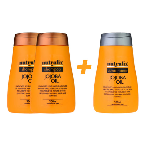 Nutrafix Jojoba Oil 2x Shampoo & 1 Conditioner (300ml)