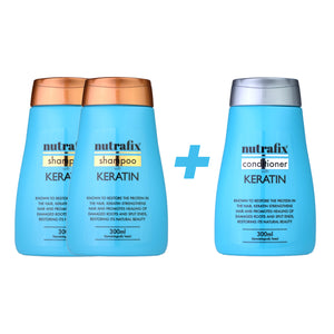 Nutrafix Keratin 2x Shampoo & 1 Conditioner (300ml)