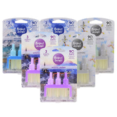 6x Perfect Scents 3 Scents Refill Air Freshener - Compatible with 3volution
