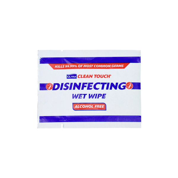ALCOHOL FREE Ultra Clean Touch Antibacterial Wipes (Pack Of 1000 Individually Wrapped)