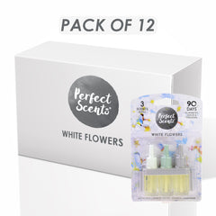 12x Perfect Scents White Flowers Air Freshener Refill- Compatible with 3volution