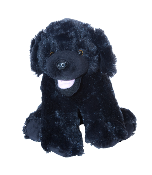 8 inch recordable BLACK lab puppy