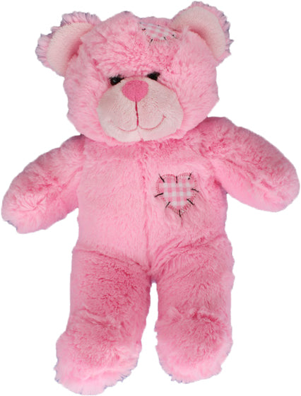 8 inch recordable PINK patch bear