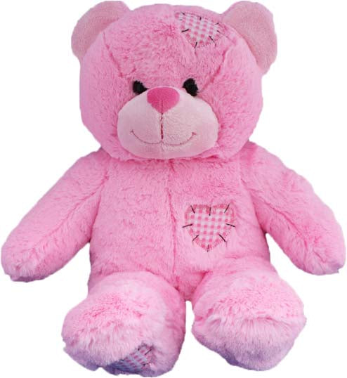 15 Inch Recordable Pink patch Bear
