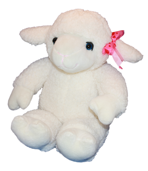 15 inch recordable plush BOW Lamb