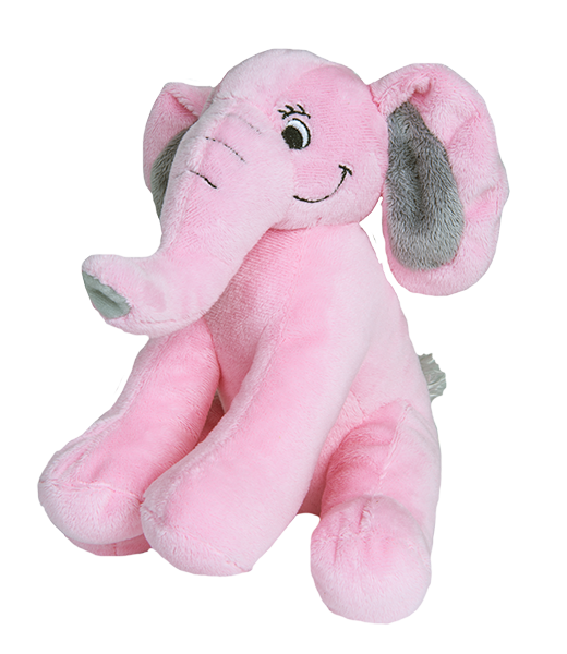 8 inch recordable pink elephant With 30 Second Digital Recorder