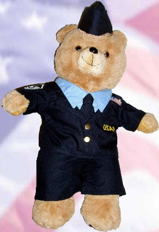 US Air Force Recordable Talking 15 inch bear