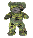 8 inch Recordable Camo Military Bear