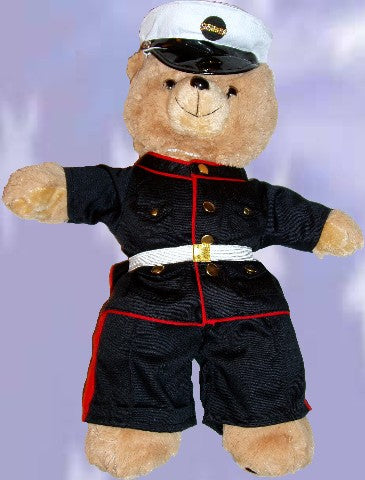 USMC MARINE Recordable Talking 15 inch military bear