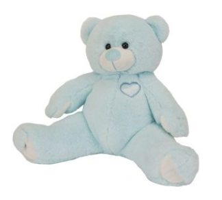 15 inch recordable blue teddy bear